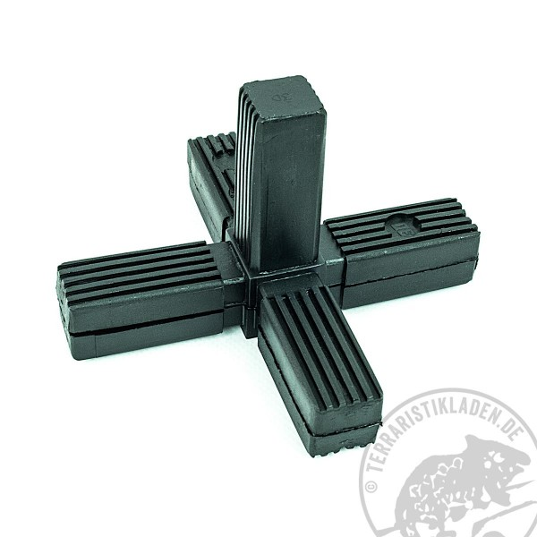 Steckverbinder für Aluminiumvierkantrohr Terrarienbau